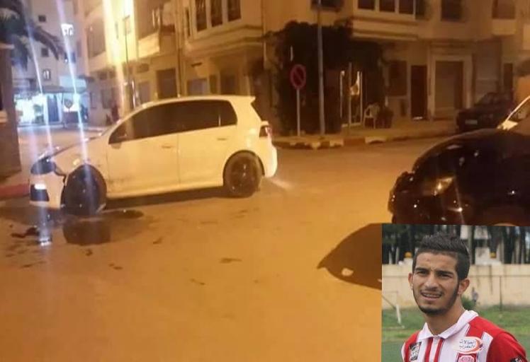 زيد كروش لاعب المغرب التطواني ينجو من حادثة سير بأعجوبة
