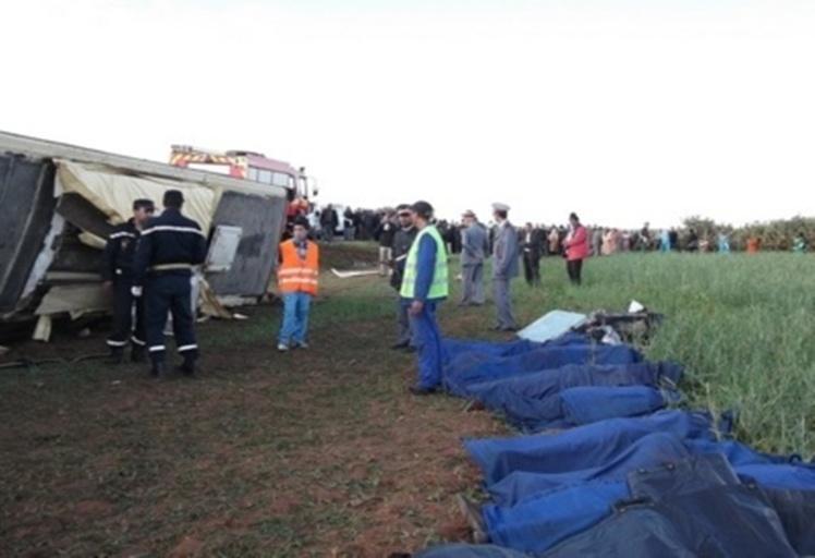 خمسة قتلى في حادث سير ميمته على الطريق الرابطة بين شفشاون ووزان
