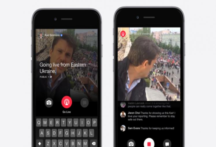 تطبيق Facebook Mentions يتيح إمكانية البث المباشر