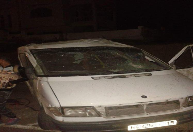 انقلاب سيارة مشجعين لفريق اتحاد طنجة قربة تطوان تخلف إصابات