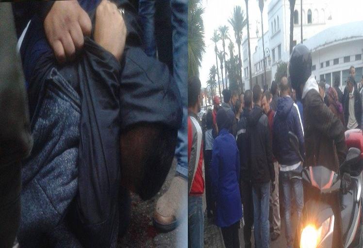 مواطنون يلقون القبض على شخص أغتصب فتاة وشوه وجهها بالسلاح الأبيض