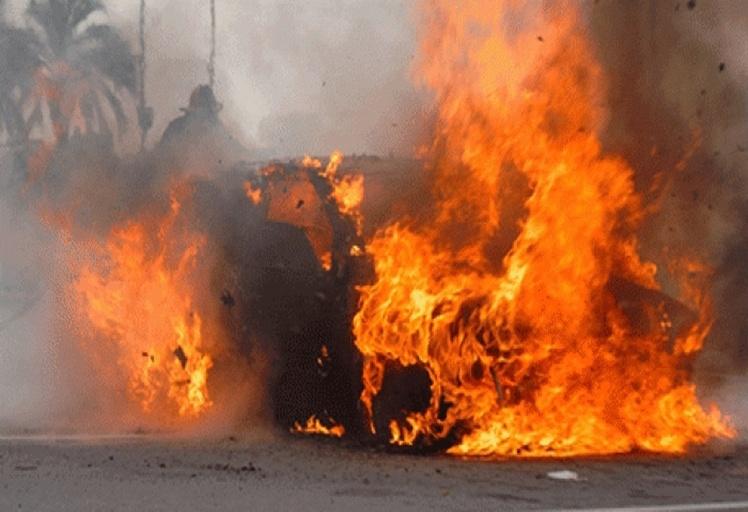 حريق وانفجار يخلفان الذعر بمركز العبور باب سبتة