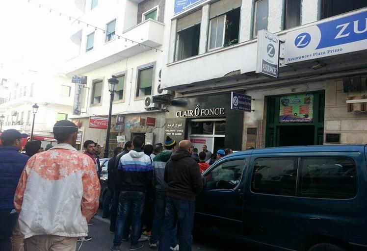 بالصور: السيطرة على حريق في عمارة بشارع المقاومة بتطوان