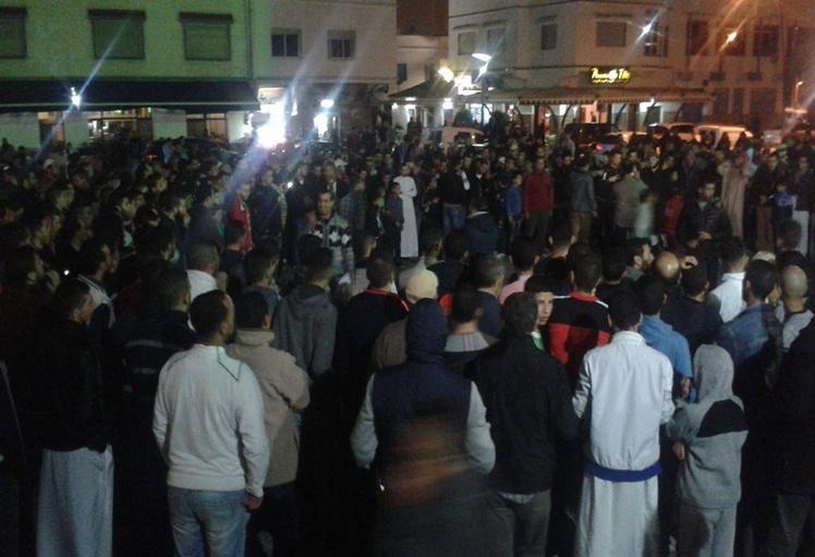 """سكان المضيق يستقبلون السنة الجديدة باحتجاجات ضد """"أمانديس"""""""