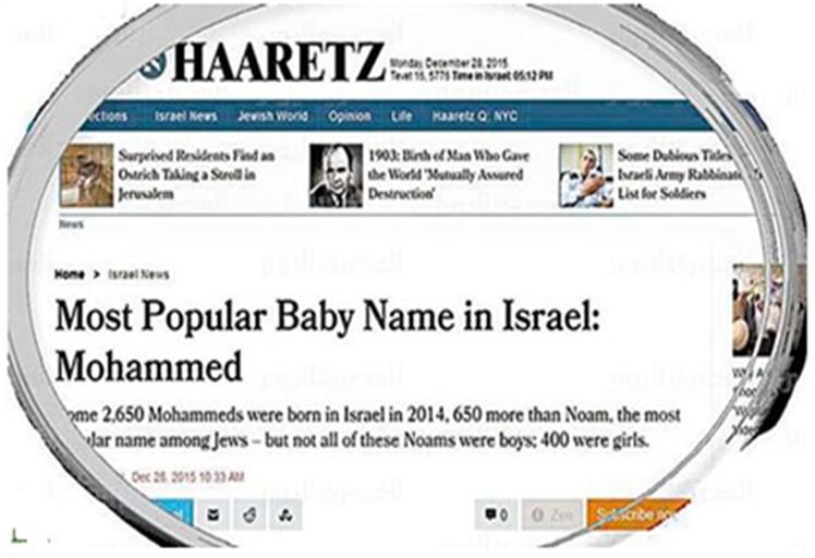 """تسمية 45 طفل """"يهودي"""" في إسرائيل خلال عام بإسم محمد؟!"""