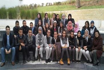تلاميذ ثانوية القدس الاعدادية في زيارة للمركز السوسيوثقافي بتطوان