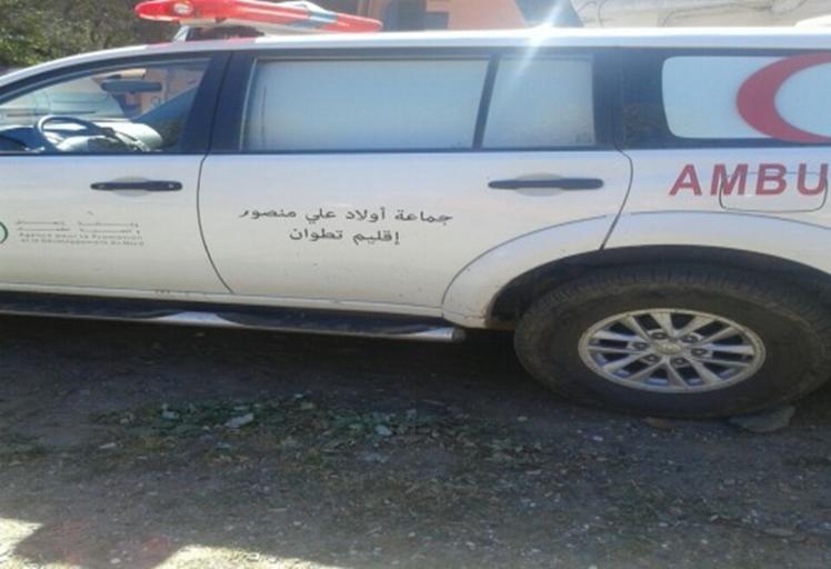 """فضيحة: حجز سيارة إسعاف جماعة """"أولاد علي منصور"""" على متنها الرئيس ونوابه"""