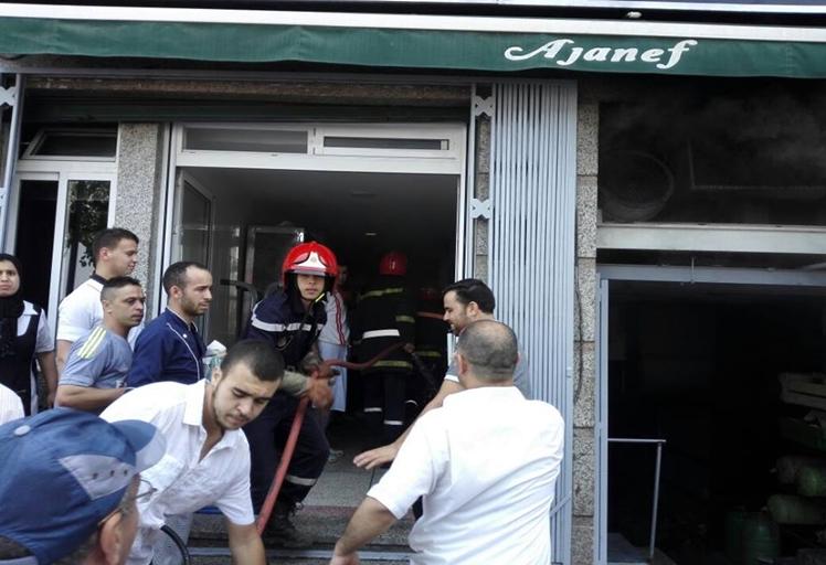"""حريق بمقهي وحلويات """"أجانف"""" بدون إصابات"""