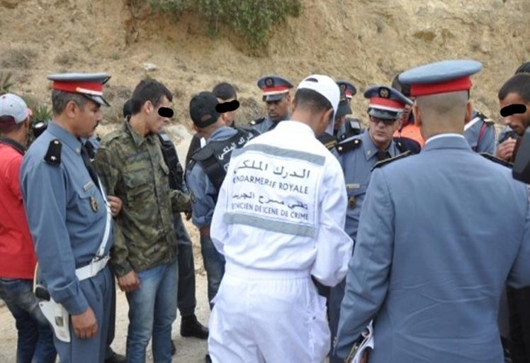 بالصور: الدرك يعيد تمثيل جريمة قتل شاب بمنطقة بوسملال بتطوان