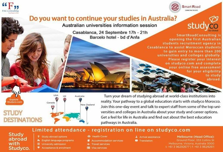 تنظيم الملتقي الأول للجامعات الاسترالية بالدارالبيضاء