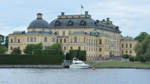 DROTTNINGHOLM, SWEDEN - JUNE 7: The kingCarl Gustav's boat is moored outside Drottningholm Castle during preparations for Princess Leonore's Royal Christening on june 7, 2014 in Drottningholm, Sweden. (Photo by Torsten Laursen/Getty Images)