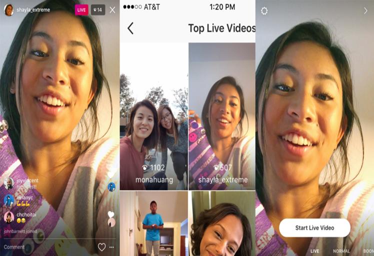 أحصل الأن على نسخة Instagram الجديدة و تمتع بعمل بث مباشر على حسابك !