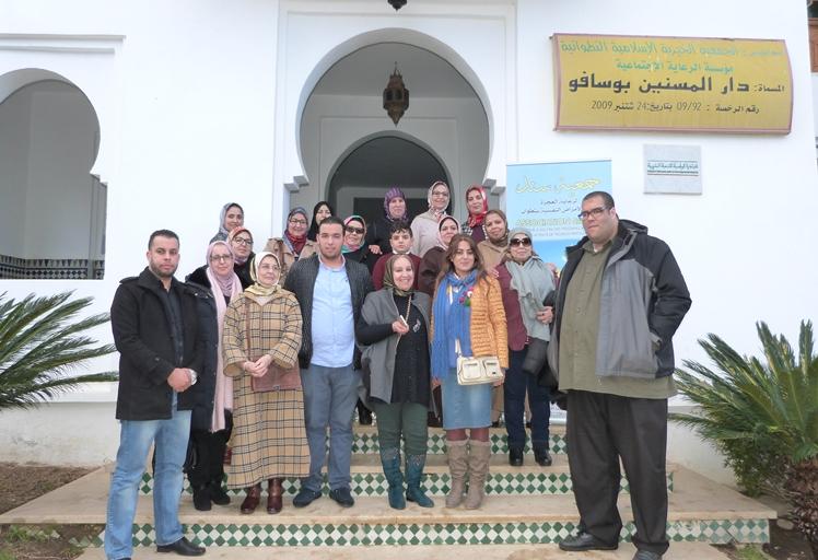 جمعية سند تنظم حفل غذاء لفائدة نزلاء دار المسنين بوسافو بتطوان