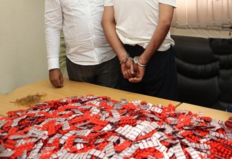 أمن المضيق يوقف مروجا للأقراص الطبية المخدرة