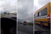 فيديو: سائق حافلة نقل مدرسي يقود بسرعة جنونية يعرض حياة التلاميذ للخطر