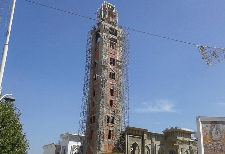 ميلان صومعة مسجد في طور البناء بتطوان تثير جدل واسع في فيسبوك