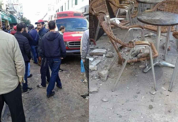 إصابة شخص جراء سقوط جزء بناية وسط تطوان