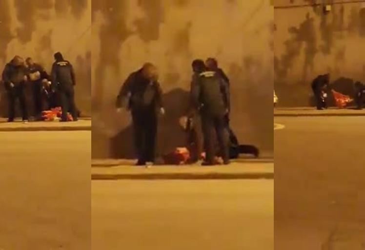 فيديو: الحرس الاسباني يواصل اعتداءاته على المغاربة بباب سبتة